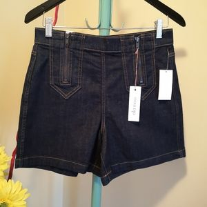 Ella Moss Dark Wash Denim Shorts - Size 28 NWT
